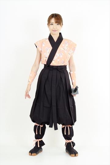 和柄・袴式くノ一装束(梅短冊)|ITEM