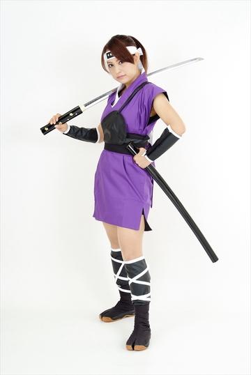 くノ一衣装・ミニスカ(紫)|ITEM